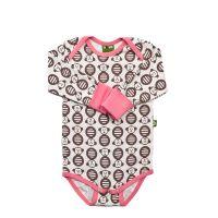 Nosh Organics - Monkey Pink Onsie/Bodysuit Long Sleeve