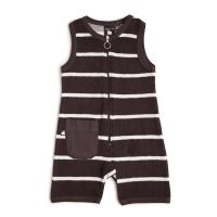 Nosh Organics - Terry One Piece - Dark Clay (Size 3 months to 6 years)