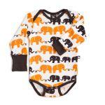 Nosh Organics - Elephant Unisex Longsleeve Onsie/Bodysuit