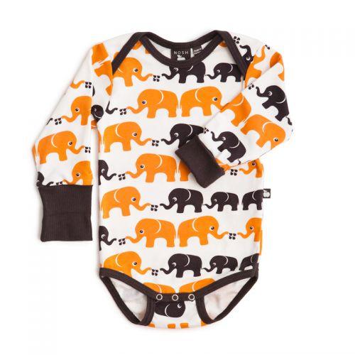 Nosh Organics - Elephants Unisex Longsleeve Onsie/Bodysuit