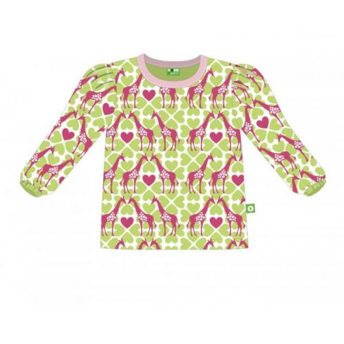 Nosh Organics - Giraffe Pink/Green Long Sleeve T-Shirt - 100% organic cotton
