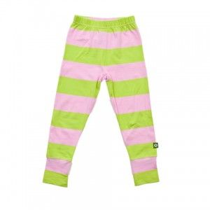 Nosh Organic - Leggings Pink and Green (9 months to 8 years)