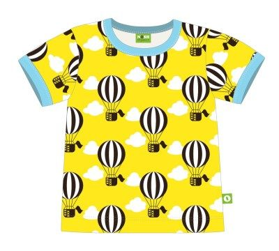 Nosh Organics - Yellow Balloon Short Sleeve T-Shirt - 100% organic cotton (9 months to 6 years)