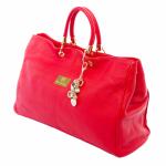 Nova Harley - Melbourne Pink Leather Nappy Bag