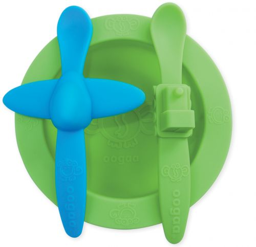 Oogaa Green and Blue - Green Meal Time Set