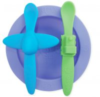 Oogaa Blue and Green - Purple Meal Time Set