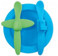 Oogaa Blue and Green- Blue Mealtime Set