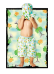 Wave Rat Vintage Palm Allover Print Boardshorts (sizes 1 to 4)