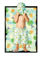 Wave Rat Vintage Palm Allover Print Boardshort (sizes 1 to 4)