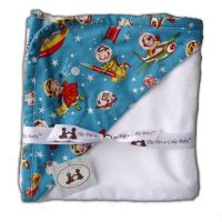 Pat a Cake Baby Retro Rockets Hooded Towel