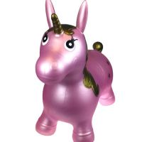 Pink Unicorn Bouncy Rider  - Hopper