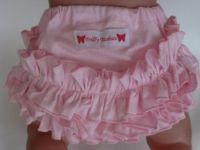 Frilly Tushies - Pink on Pink  Nappy Cover