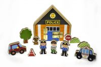 Police Playset with Metal Latch