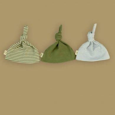 Pureborn Organic Cotton Beanie/Hat - Sage Stripe
