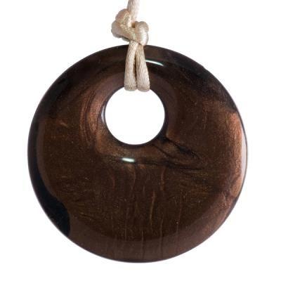 MummaBubba Jewellery - Teething Pendant - Bronze Swirl