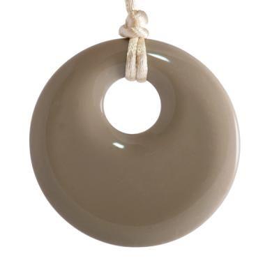 MummaBubba Jewellery - Teething Pendant - Mocha