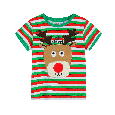 Oh Deer Rudolph Reindeer Baby Christmas Tee (Sizes 1&2)