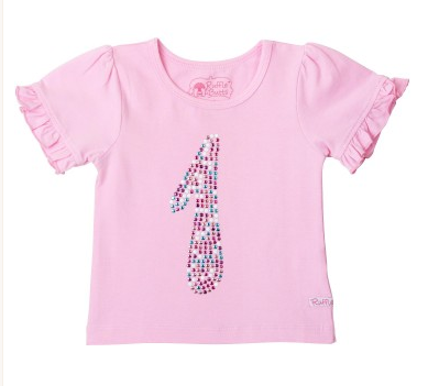 1st Birthday Pink Ruffled Tee