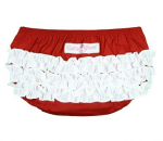 Ruffle Butts Red and White - Nappy Cover