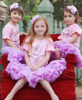 4 Year Old Birthday Pink Ruffled Tee