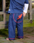 Rugged Butts Navy Rocket Crawlers (Sizes 6 - 18mths)