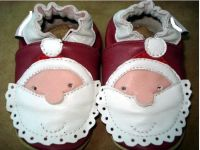 Christmas-Santa Baby Soft Sole Shoes - Leather - Last size left 12-18mths
