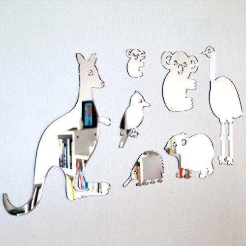 Shatterproof Australian Animals Mirror Set