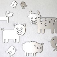 Shatterproof Farm Animals Mirror Set