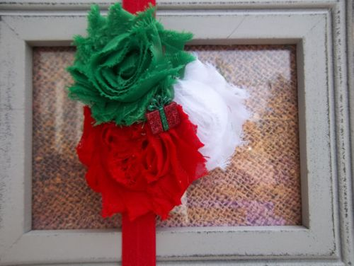 Shabby Chic Rosette Christmas Headbands