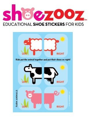 Shoezooz Shoe Stickers - Farm