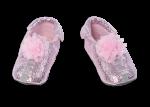 Shupeas - Pink Lace Flower Glitter