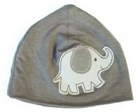 Silkberry Baby -Bamboo Beanie/Hat Mocha Elephant (last one left 0-6mths)