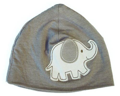 Silkberry Baby -Bamboo Beanie/Hat Mocha Elephant (last one left 0-6mths)