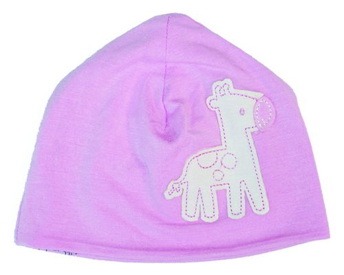 Silkberry Baby -Bamboo Beanie/Hat Cotton Candy Pink Giraffe only 6-12 mths left)