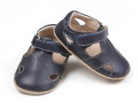 SKEANIE Sunday Sandals- Soft Sole Baby Shoes - Navy (only small left)