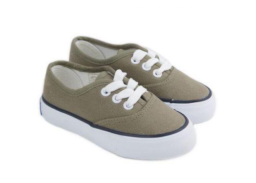 Skeanie Canvas Casual Lace Up - Khaki (Size 27)