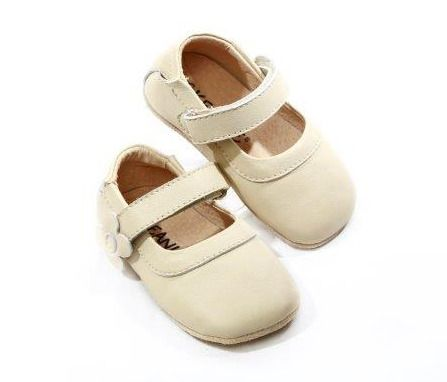 SKEANIE Mary Janes - Leather Soft Sole - Cream