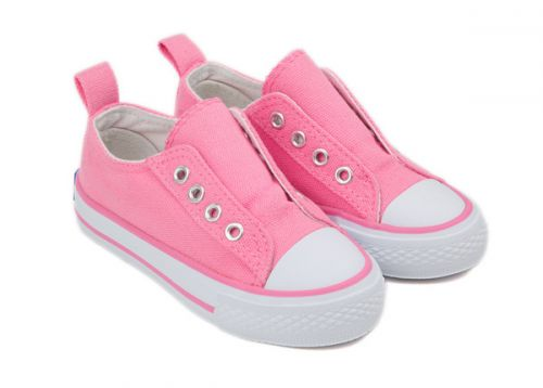 SKEANIE Canvas Eyelet Shoe - Pink