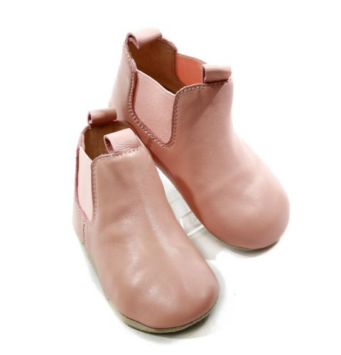 Skeanie Riding Boots - Soft Sole Baby Shoes - Pink