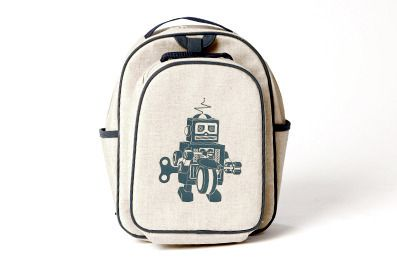 So Young Toddler Backpack and Lunchbag Set- Grey Robot