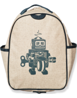 So Young Toddler Backpack  - Grey Robot