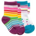 Star Bright Socks - 2 pack (only size: 2-4 years Left)
