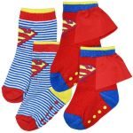 Superman Baby Socks - 2 Pair Pack (one pair has a little cape)