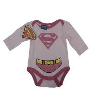 Pink SuperBaby Long Sleeve Bodysuit