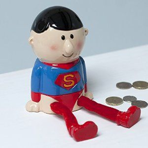 Superman Dangly Leg Money Box