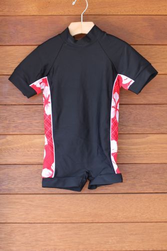 Wave Rat Hibiscus Red Zootsuit/Rashie 50+ - Size 1 only left