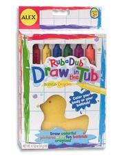 Rub A Dub Draw In The Tub - Bath Crayons