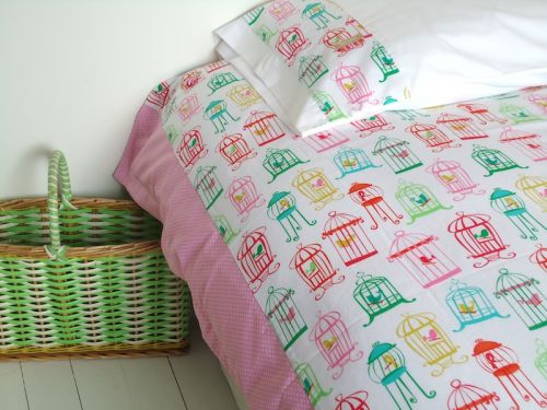 Cheerful Chirpy Single Duvet Cover and Pillow Slip Set