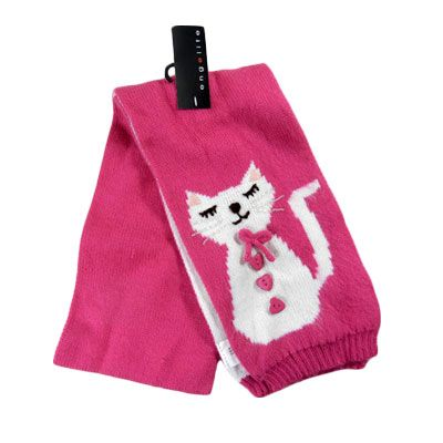 Hot Pink Kitty Kat Knit Scarf