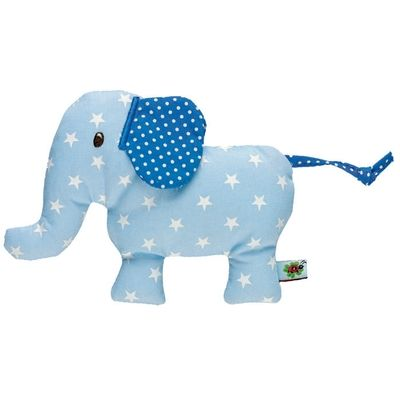 Baby Charms Blue Elephant Rattle